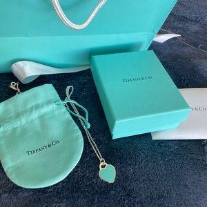 "Brand New Tiffany Blue Charm on 20"" chain"